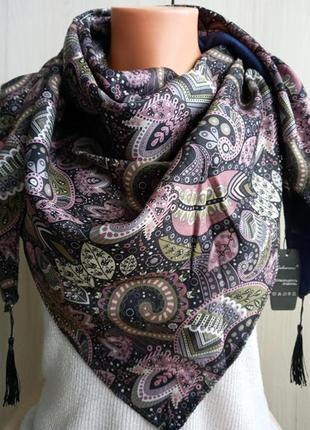 Роскошная женская косынка на флисе, платок, очень теплая и мягкая