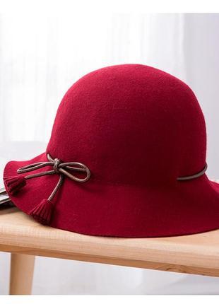 Винтажная шляпка из фетра
