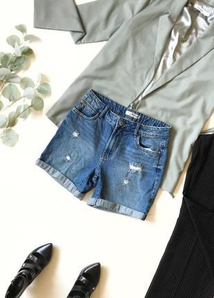 Шок-цена! ⚡️ джинсовые шорты шортики denim co с подворотами р.xs