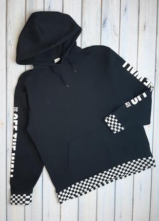 Модный мужской плотный черный свитер худи vans, размер 44 - 46