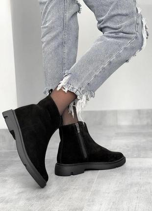 Деми ботиночки,натуральный замш