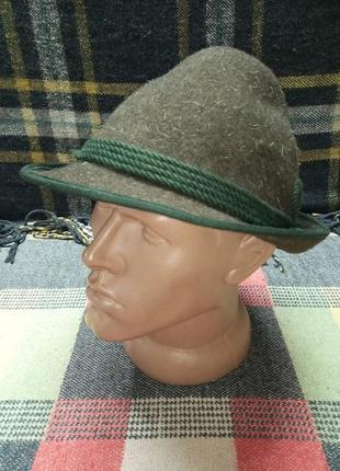Шляпа тирольская коричневая