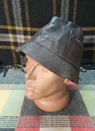 Шляпа панама кожзаменитель винтажная 60-70-е