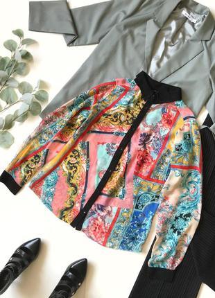 Шок-цена! ⚡️ красивая блуза блузка под шифон в узоры papaya р.12