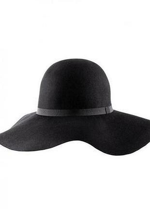 Шляпа капелюх шерсть черная черная atmosphere