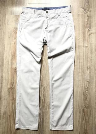 Мужские хлопковые брюки tommy hilfiger custom fit