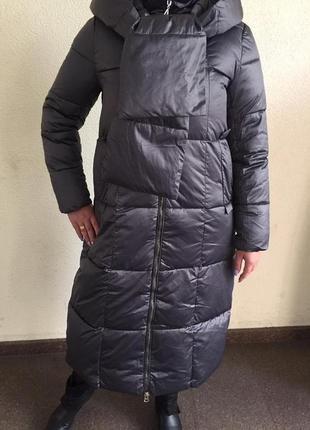 Пальто плащ зимний италия люкс качества с капюшоном