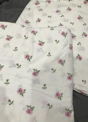 Два двуспальных пододеяльника икеа