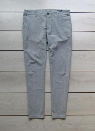 Мужские зауженные брюки джоггеры в полоску от defacto studio