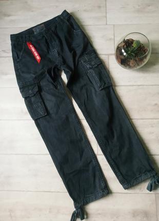 Карго штаны джинсы alpha industries cargo