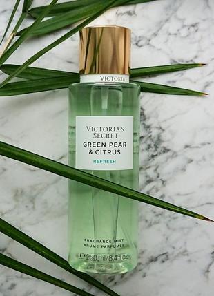 Парфюмированный спрей victoria's secret green pear and citrus
