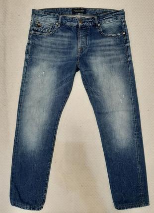 Крутые брендовые джинсы scotch & soda amsterdams blauw р. 50 (34/32)