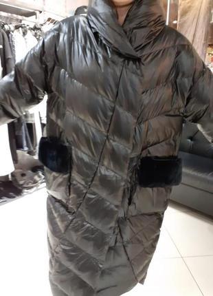 Пальто зимнее пуховик  италия