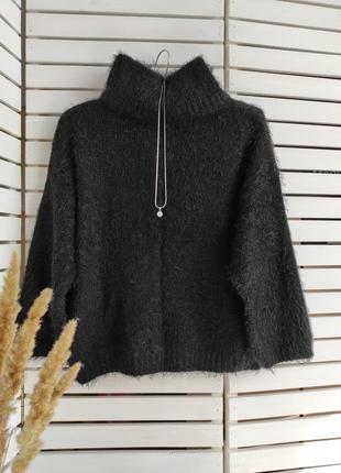 Пушистый укороченный свитер f&f