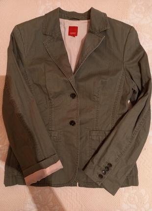 Оливковый пиджак,жакет,100% коттон,размер 40-42 евро.