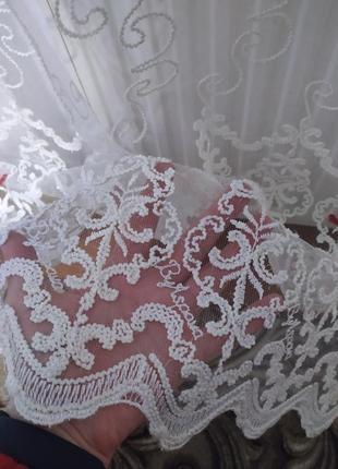 Красивая белоснежная тюль 2.40/3.55. по супер-цене🔥💥😍