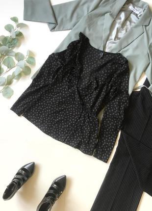 Шок-цена! ⚡️ чёрная блуза блузка под шифон на запах vero moda р.