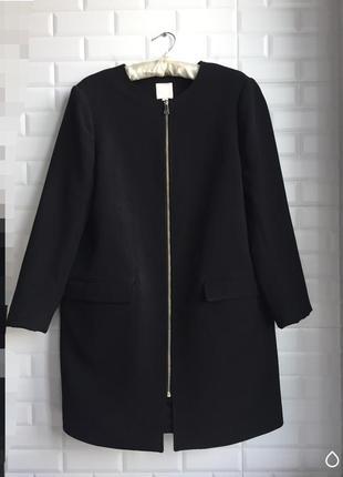 Пальто h&m чёрное