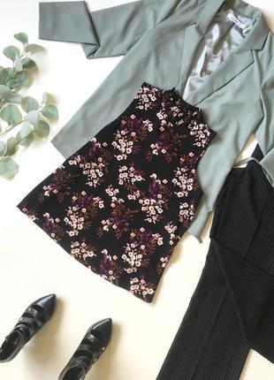 Шок-цена'⚡️ стильная фактурная блуза блузка под шифон в цветы