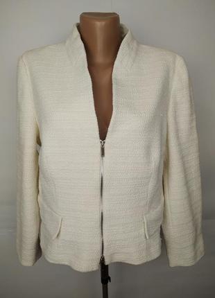 Пиджак жакет красивый белый фактурный оригинал karen millen uk 14-16