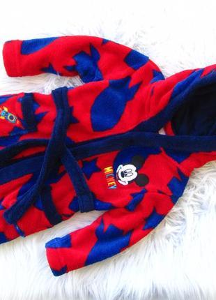 Стильный халат с капюшоном disney mickey mouse
