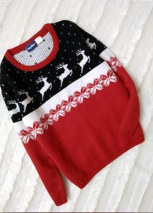 Теплый рождественский свитер