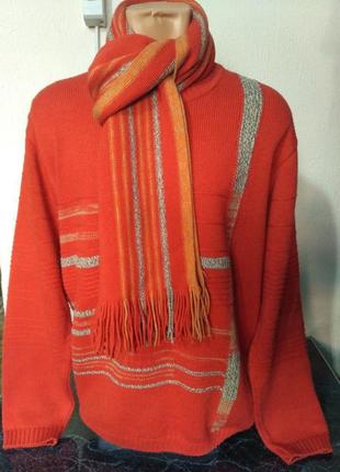 Комплект: свитер + шарф, 80% шерсть