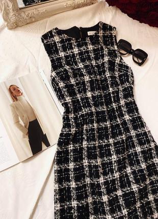 Платье твидовое