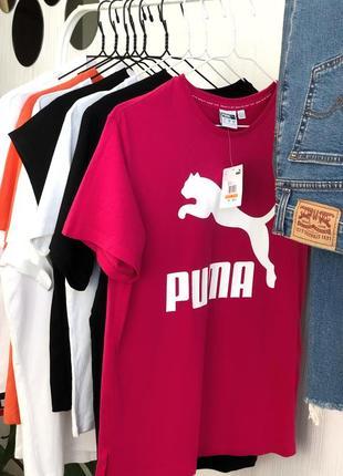 Малиновая оверсайз футболка от puma