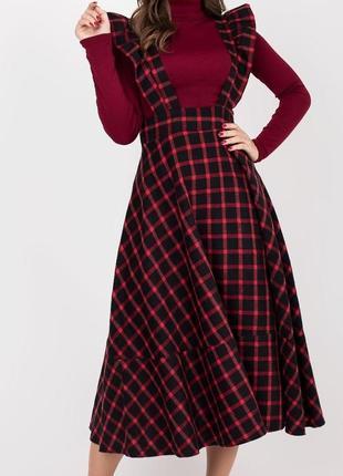 Сарафан-платье клетка байка 42-48