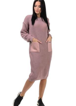 Вязаное платье шерсть акрил все размеры