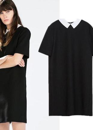 Скидка сегодня!платье трапеция с белым воротником, классика