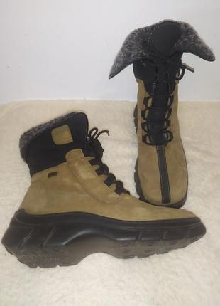 Комбинированные зимние ботинки