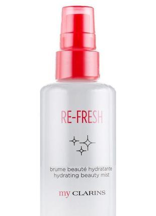 Освежающий мист для лица clarins my clarins re-fresh hydrating beauty mist