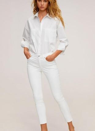 Укороченные джинсы скинни , джинсы светлые