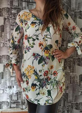 Прямое платье с длинным рукавом размер 48-50