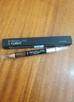 2-в-1 карандаш для бровей и хайлайтер avon