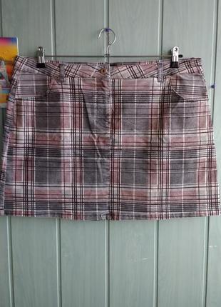 Стильная юбка из микровельвета большого размера 18uk