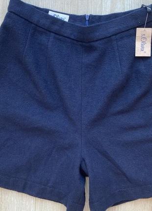 Тёплые женские шорты с высокой талией