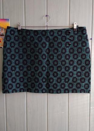 Стильная утепленная юбка большого размера 18uk