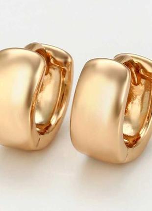Сережки кульчики медичне золото