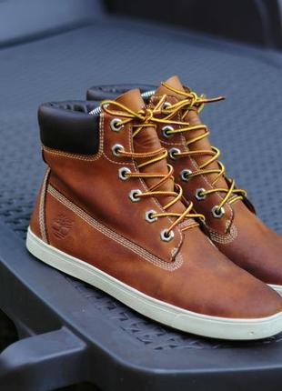 Кожание ботинки timberland