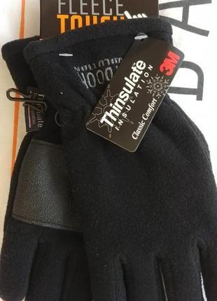 Флисовые мужские перчатки c touch для двух пальцев р. м thinsulate insulation