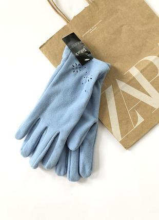 Новые перчатки флис💙размер м