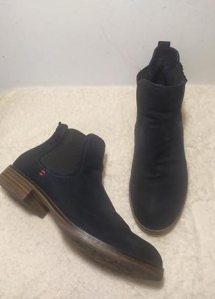 Стильные ботинки челси большого размера , текстиль