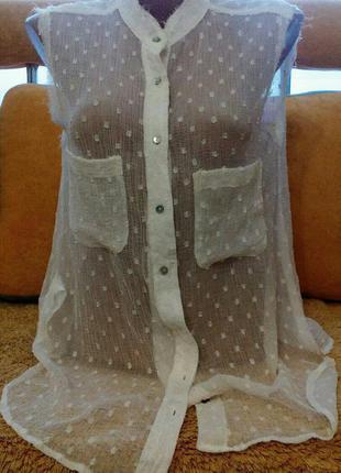 Прозрачная рубашка!