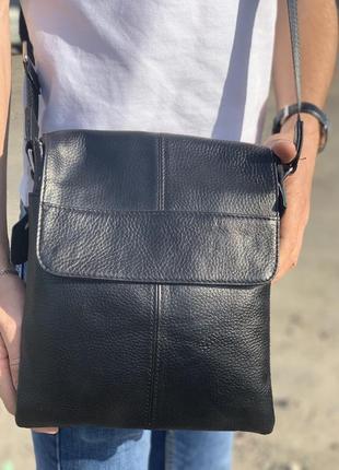 Мужская кожаная сумка от tiding bag / барсетка / слинг