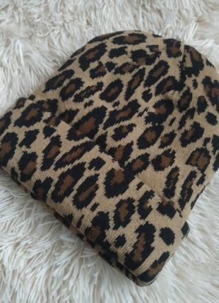 Шапки бини, зимняя шапка леопардовая