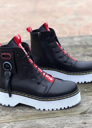 Ботинки, кожаные ботинки, ботинки демисезон и зима, ботинки на платформе