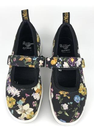 Туфли dr. martens originals askins black darcy floral, туфлі босоножки оригинал